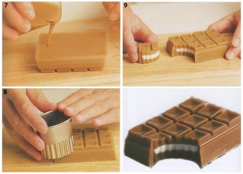 Как сделать форму для шоколада в домашних условиях