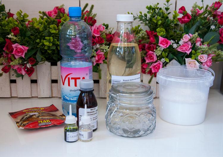 Ингредиенты для изготовления смузи для душа