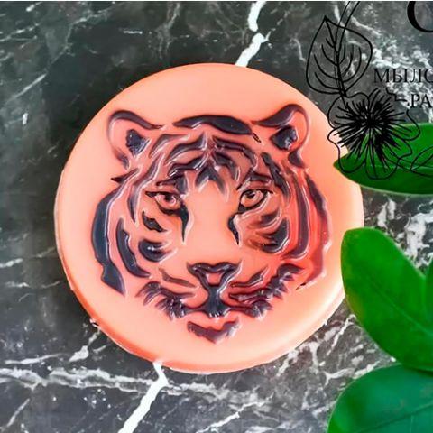 Форма пластиковая  Тигр силуэты морды