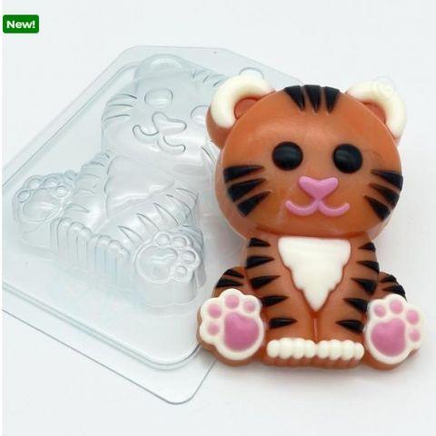 Форма пластиковая  Тигр мультяшный сидит
