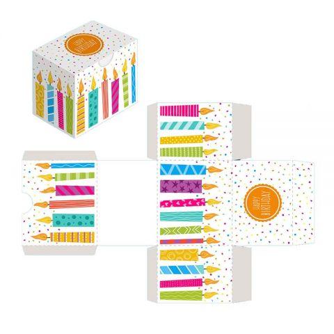 Коробка (вырежи сам) с днем рождения 4