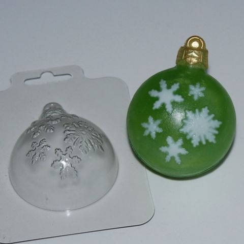 Форма пластиковая Шар снегопад