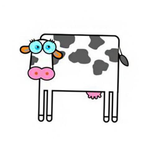 Штамп силиконовый корова