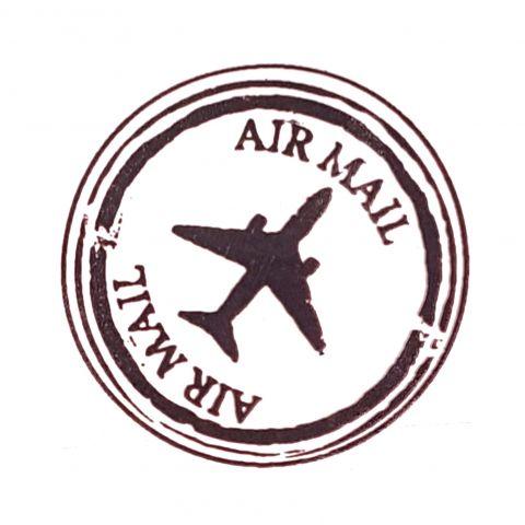 Штамп силиконовый air mail