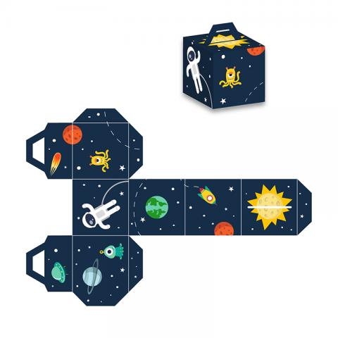 Коробка (вырежи сам) космос