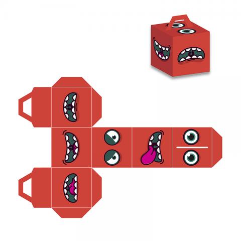 Коробка (вырежи сам) монстр