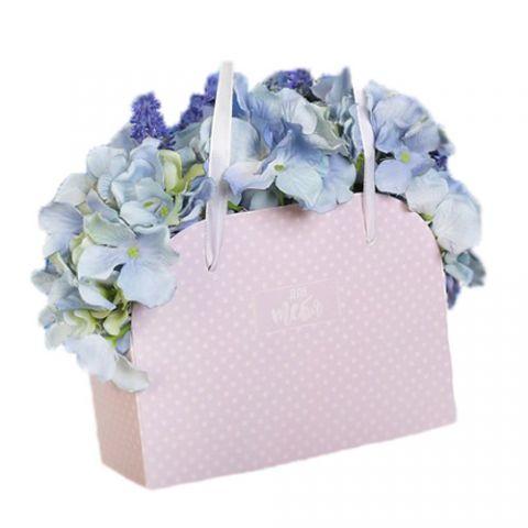 Коробка для цветов складная «Для тебя», 17 × 13 × 7 см