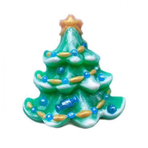 Форма пластиковая елка украшенная