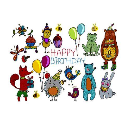Водорастворимая картинка happy birthday
