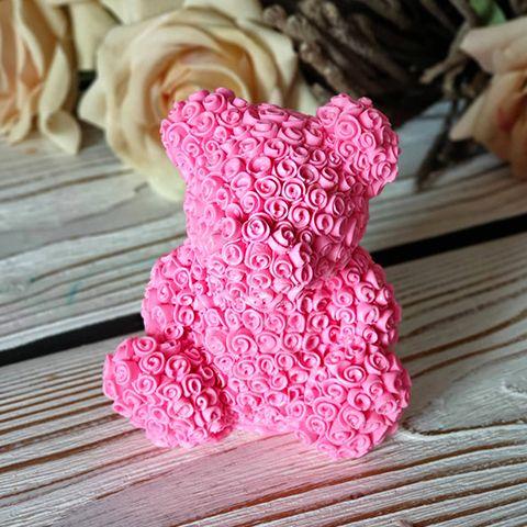 """Силиконовая форма 3D """"Мишка из роз"""" арт. 362"""