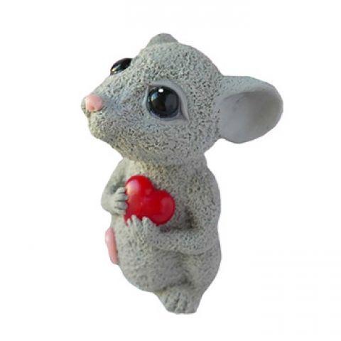 Силиконовая форма 3D мышка с сердечком (арт 373)