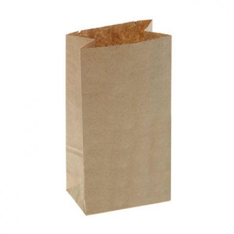 Пакет бумажный фасовочный крафт, прямоугольное дно 8 х 5 х 17 см