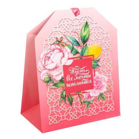 Пакет подарочный «Пусть все мечты исполнятся», 19,5 × 25,6 × 11см
