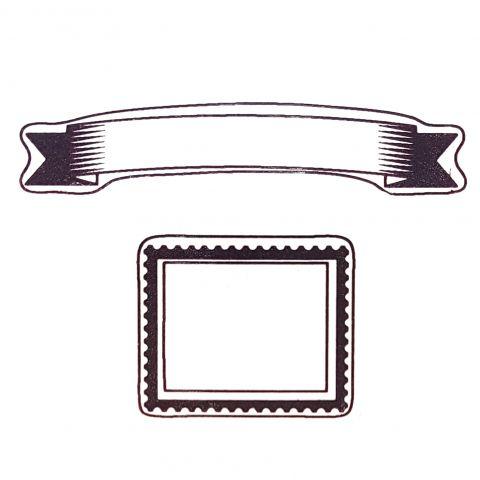 Штамп силиконовый рамки