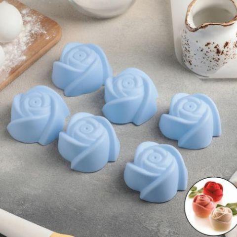 Набор форм для выпечки «Розочки», 7×4 см, 1 шт, цвет МИКС