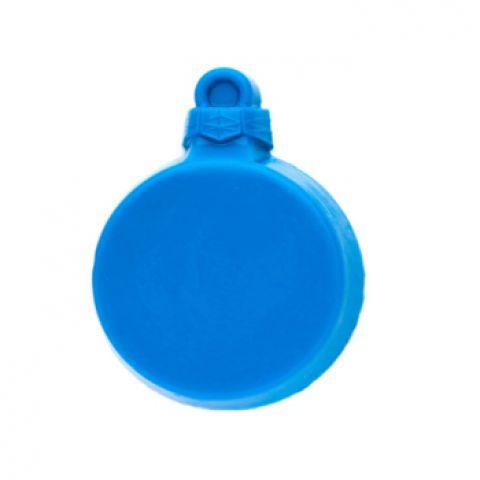 Форма пластиковая шар плоский