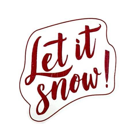 """Штамп силиконовый """"Let it snow"""""""