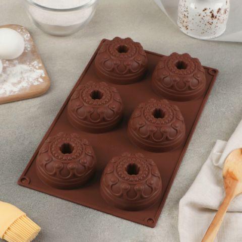 Форма для выпечки «Немецкий кекс. Торжество», 29,5×17 см, 6 ячеек