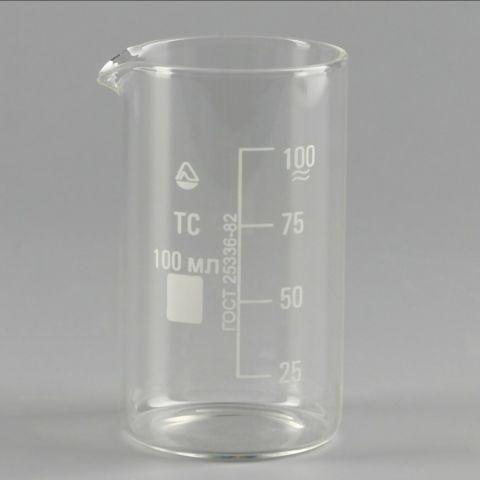 Стакан мерный (стекло) со шкалой В-1, 100 мл.