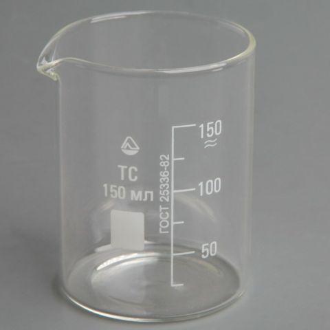 Стакан мерный (стекло) со шкалой Н-1, 150 мл.