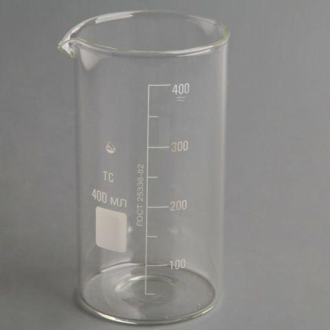 Стакан мерный (стекло) со шкалой В-1, 400 мл.