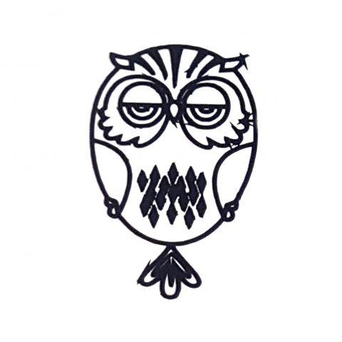 Штамп силиконовый сова 1