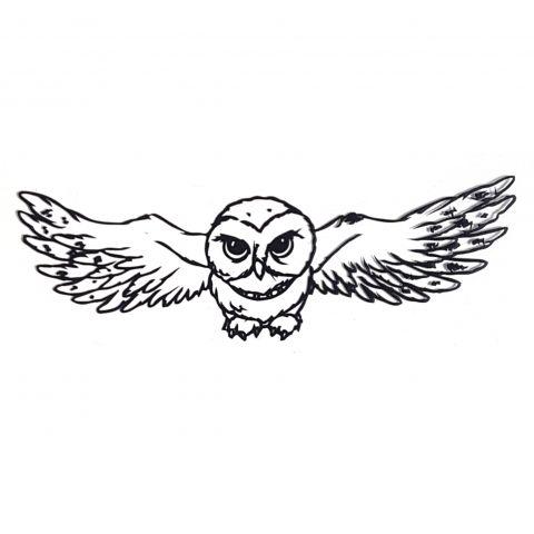 Штамп силиконовый сова 5