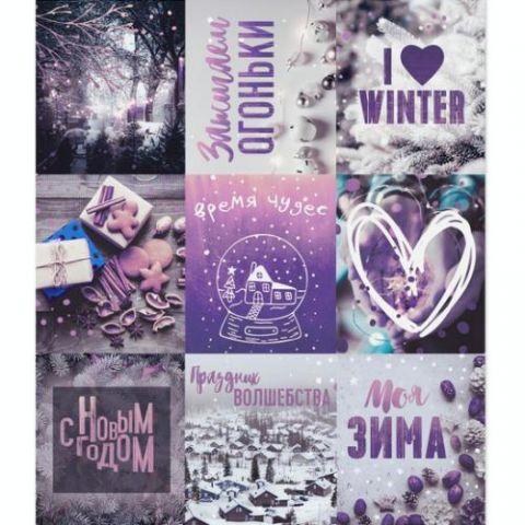 Бумажные наклейки с раскраской на обороте «Моя зима» , 11х15,5 см