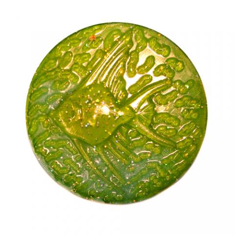 Форма пластиковая золотая рыбка